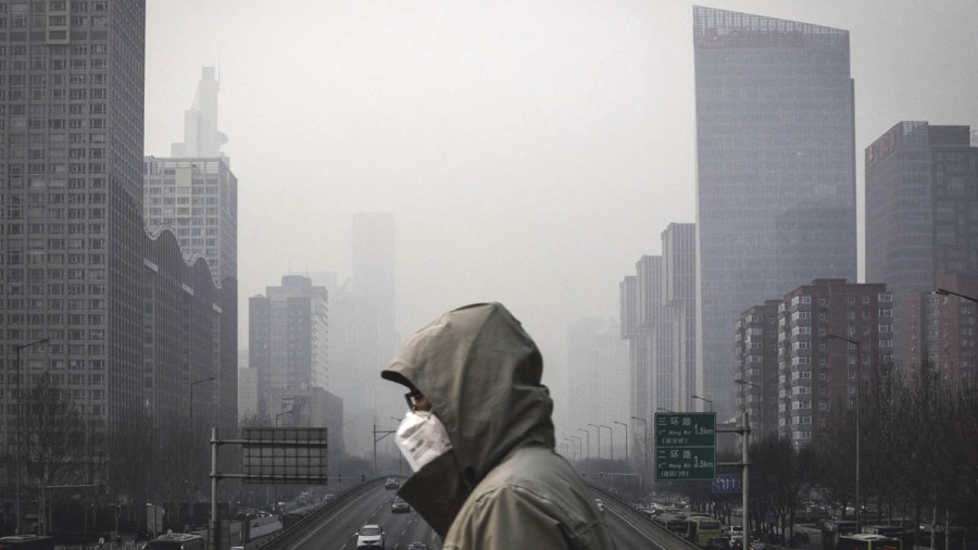 Facemasks are now commonplace in major Chinese cities such as Beijing