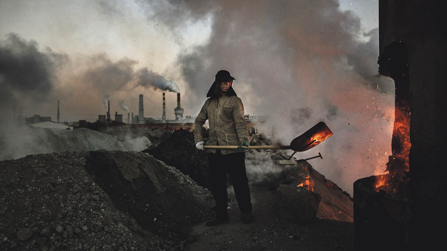 Coal furnace at a steel factory in Inner Mongolia; authorities are attempting to shut down privately owned steel, coal, and other highpolluting factories scattered across rural areas