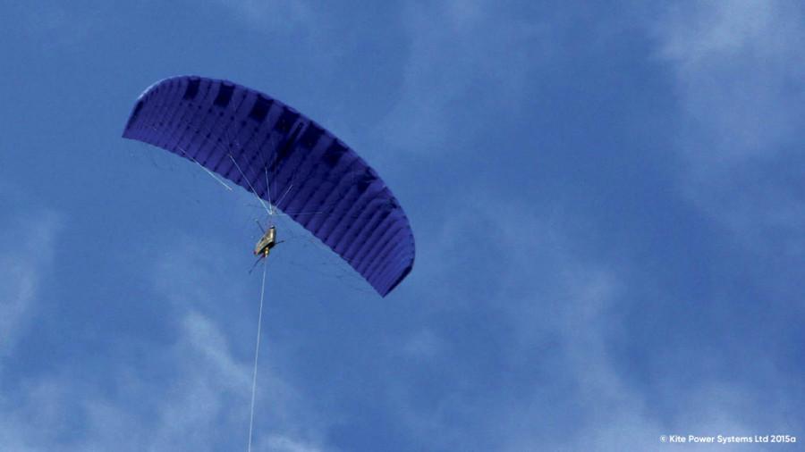 Wind gliding kite in the sky