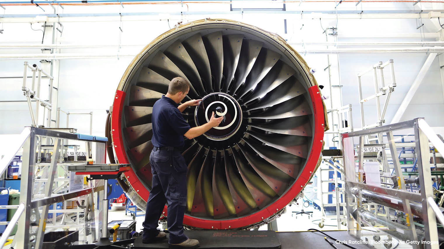Rolls-Royce's IoT systems notify the engineering company when maintenance and upgrades are due