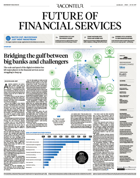 The Future of Financial Services special report published in The Sunday Times - Raconteur