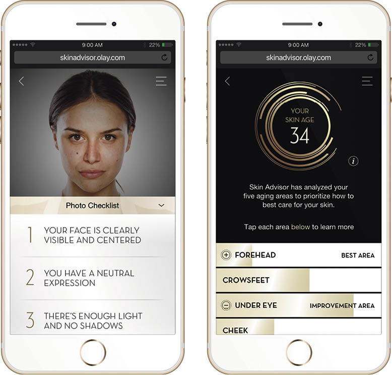 Olay's Skin Adviser uses deep-learning technology to help customers find the products best suited to their personal skincare needs