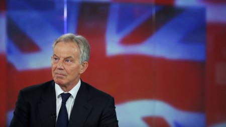 Tony Blair on stage