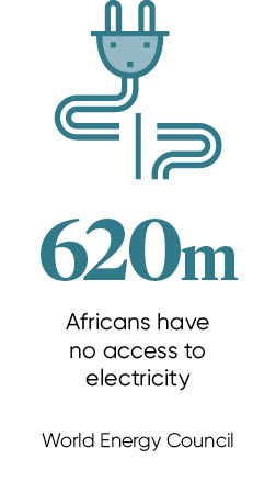 620m Africans have no access to electricity