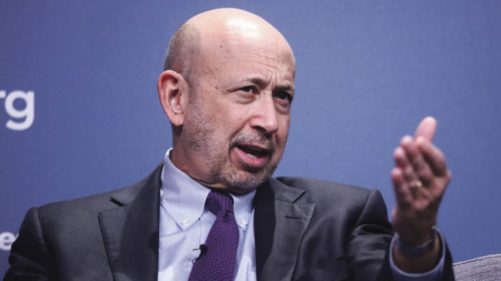 "Lloyd Blankfein, chief executive of Goldman Sachs, warned that the City of London ""will stall"" as a result of Brexit"