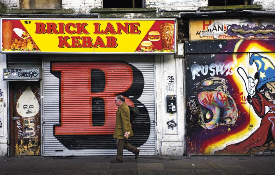 Brick Lane Kebab shop