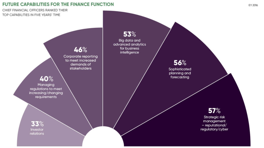 Chart looking at the future capabilities for finance function