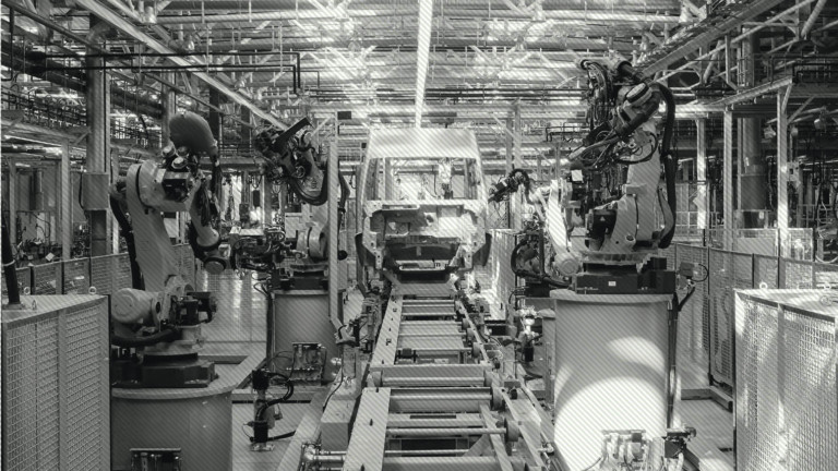 Ford car factory line