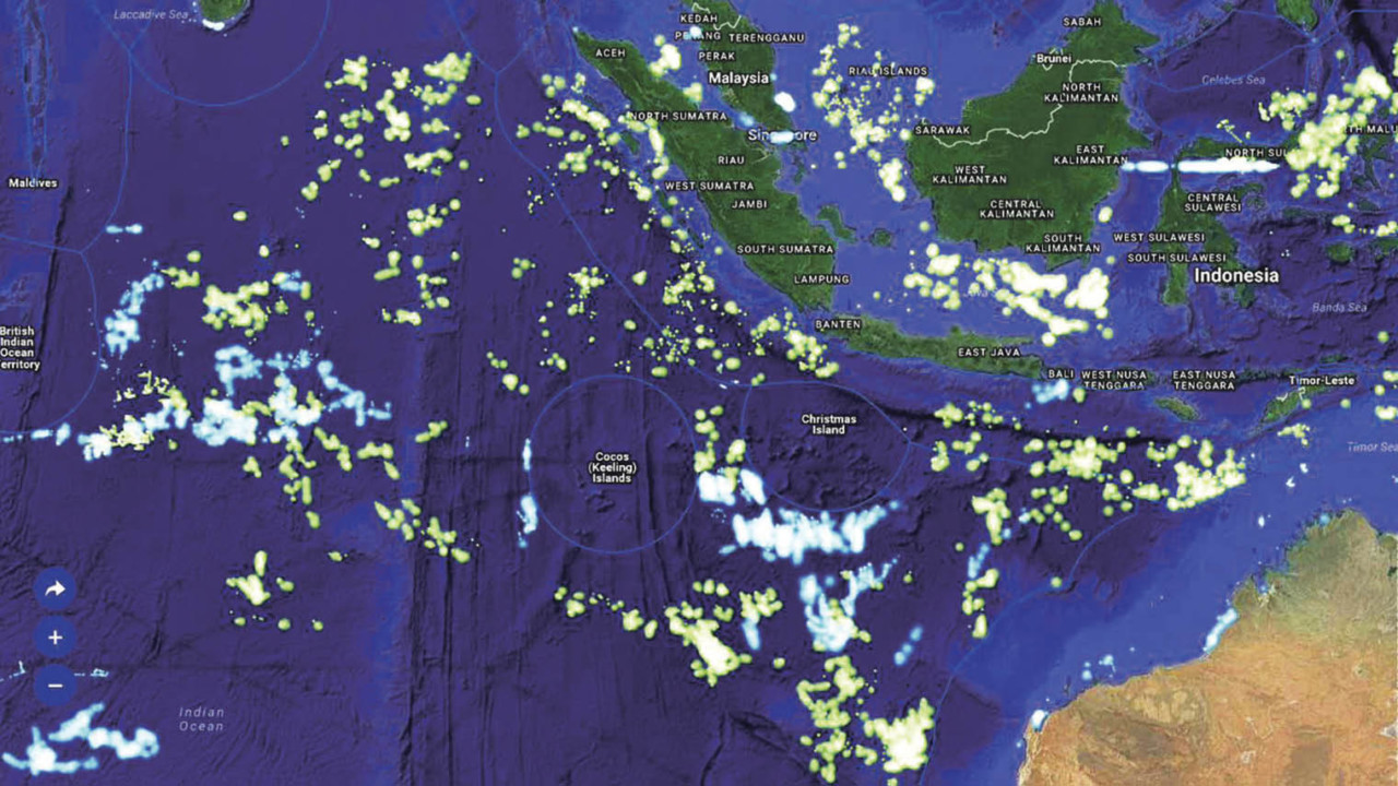 Illegal fishing map