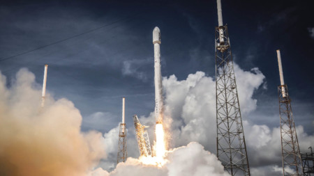 SpaceX's Falcon 9 rocket launch in July 2014