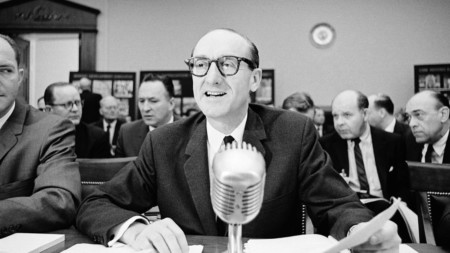 George Mueller, associate administrator of the Nasa Office of Manned Space Flight