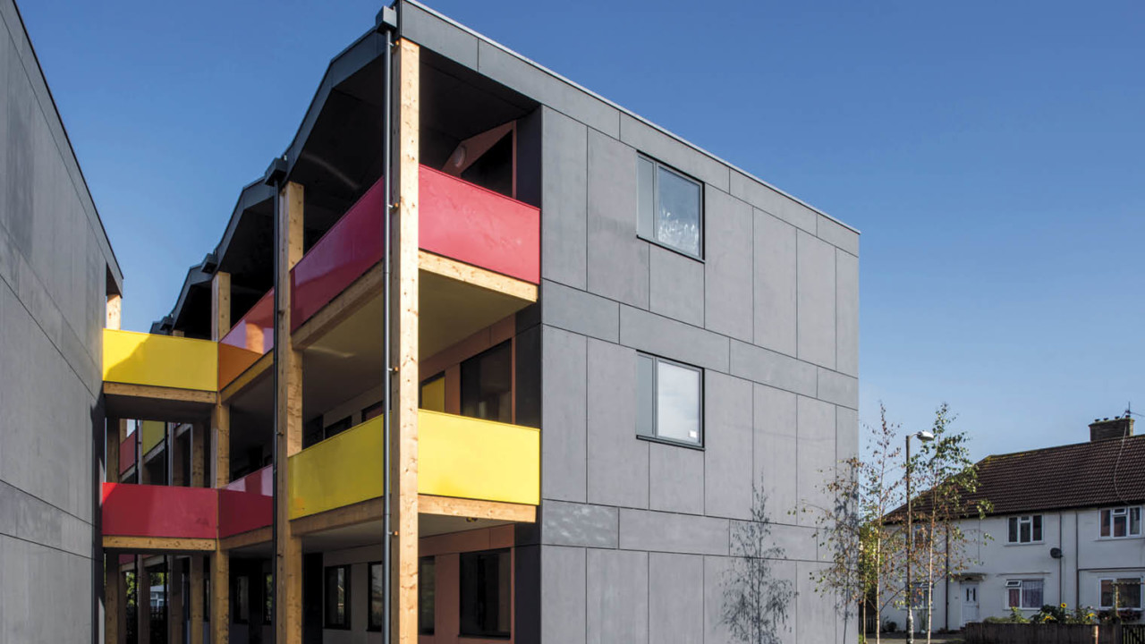 Y:Cube units made for the YMCA in Mitcham, south London; the development is made up of 36 modular, studio-like apartments 280sq ft in floor area and constructed off-site in a factory