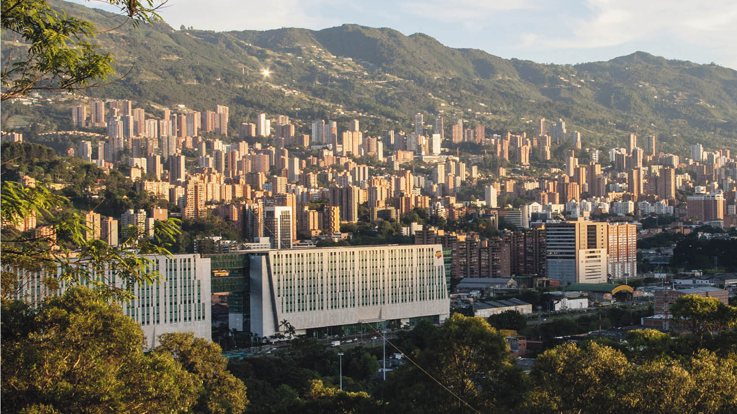Bancolombia's headquarters in the centre of Medellin, Colombia