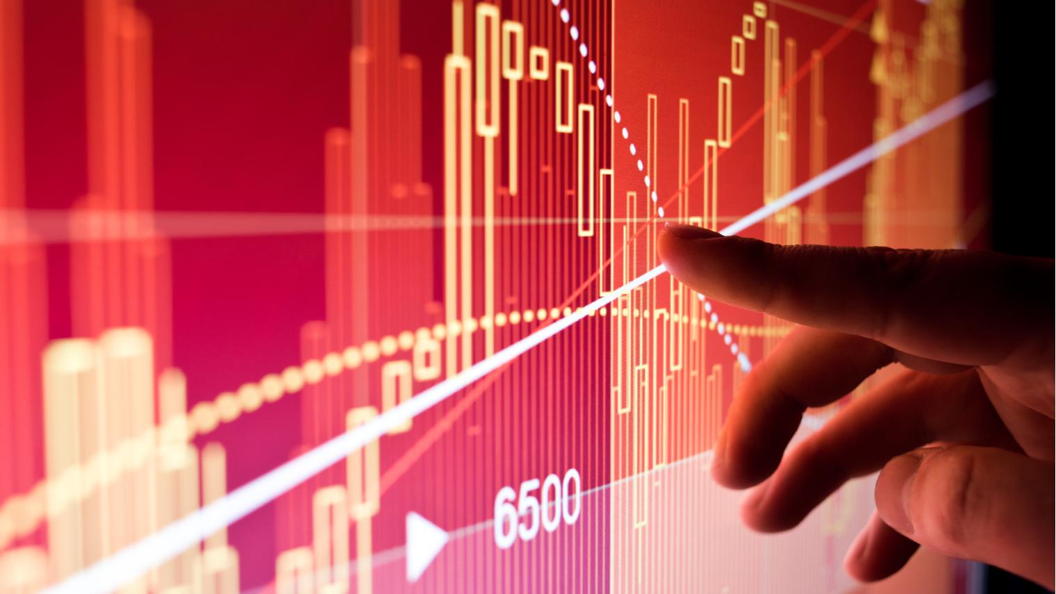 Graph of financial data