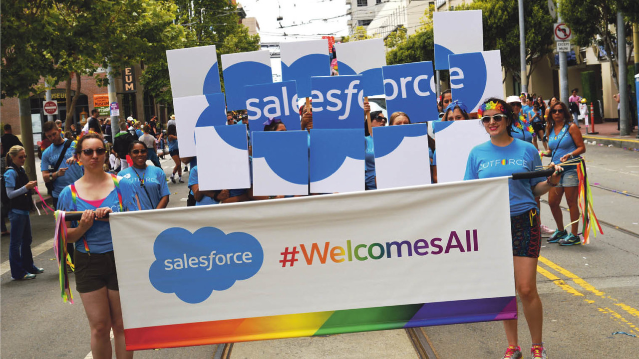 Salesforce has threatened to pull investment in US states considering anti-LGBT legislation