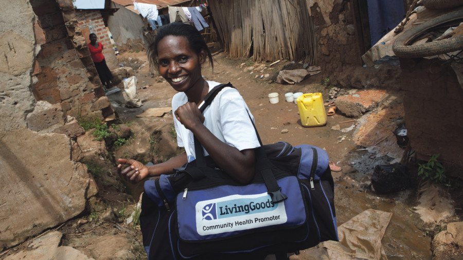 Living Goods franchisees provide essential health services, education and treatments to their neighbours in hard-to-reach areas