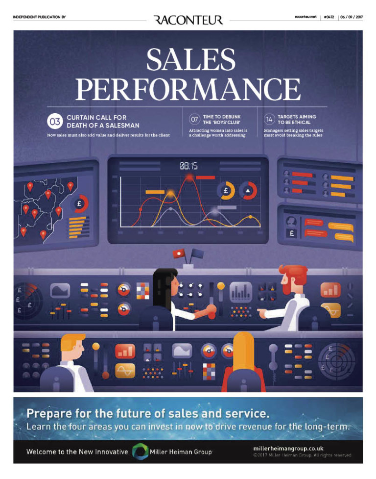 Sales performance cover