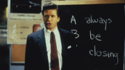 Alec Baldwin as obnoxious salesman Blake in the 1992 drama Glengarry Glen Ross