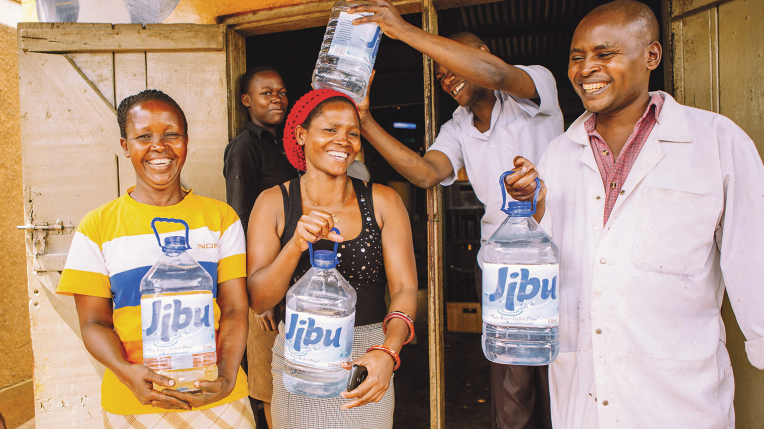Jibu uses a pure franchise model to finance and train young people to run their own clean water franchise