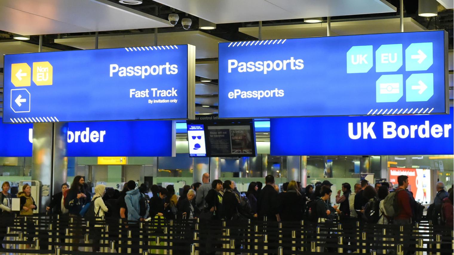 UK border passport control