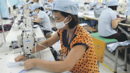 Sewing factory south asia