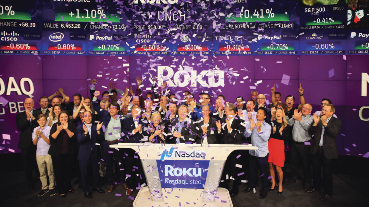 Roku lists on Nasdaq launch