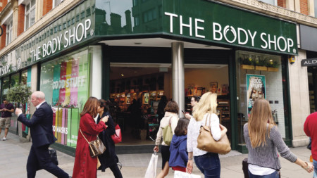 The Body Shop storefront