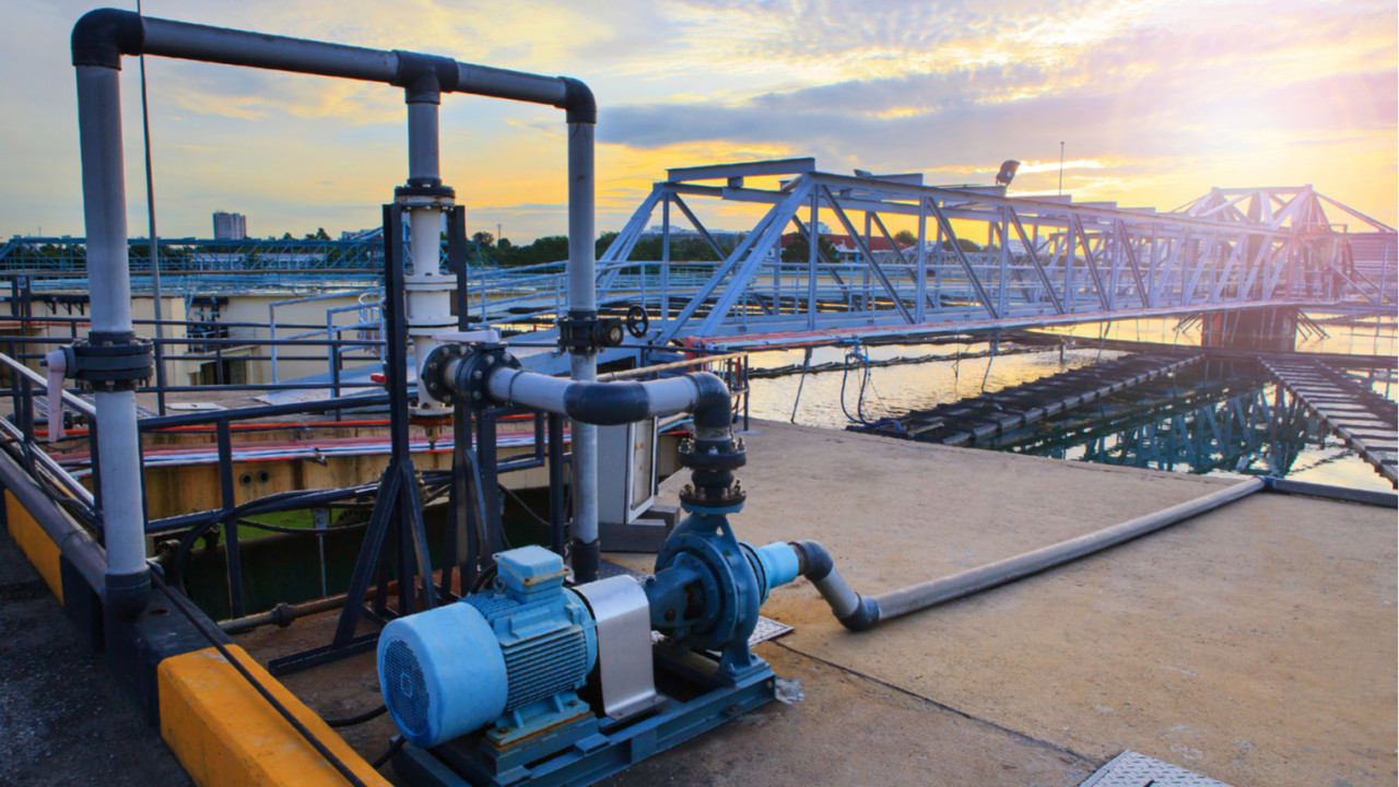 Water treatment facility sunset