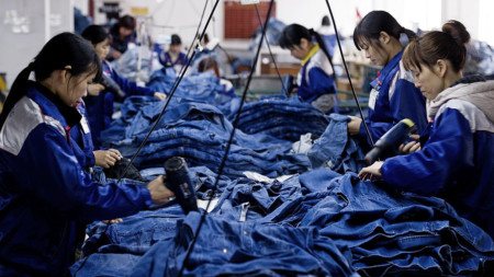 Jeans production in China