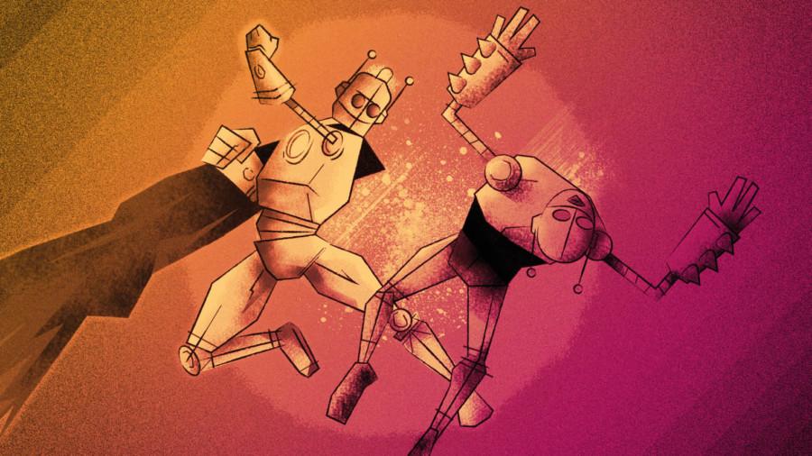 hubspot robot illustration