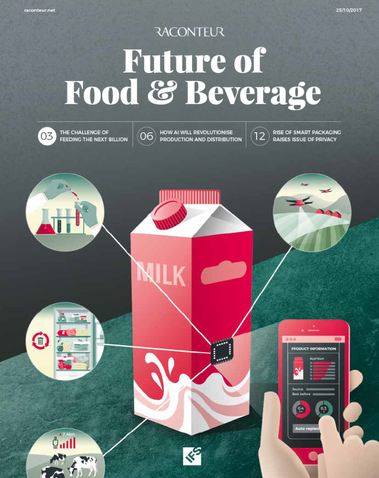 The front cover illustration of the Future of food and beverage report