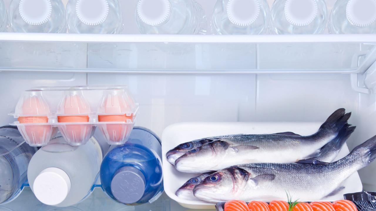 Fish eggs water in fridge
