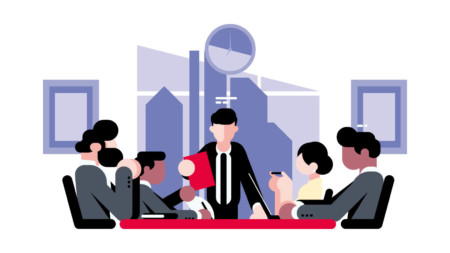 Board room illustration