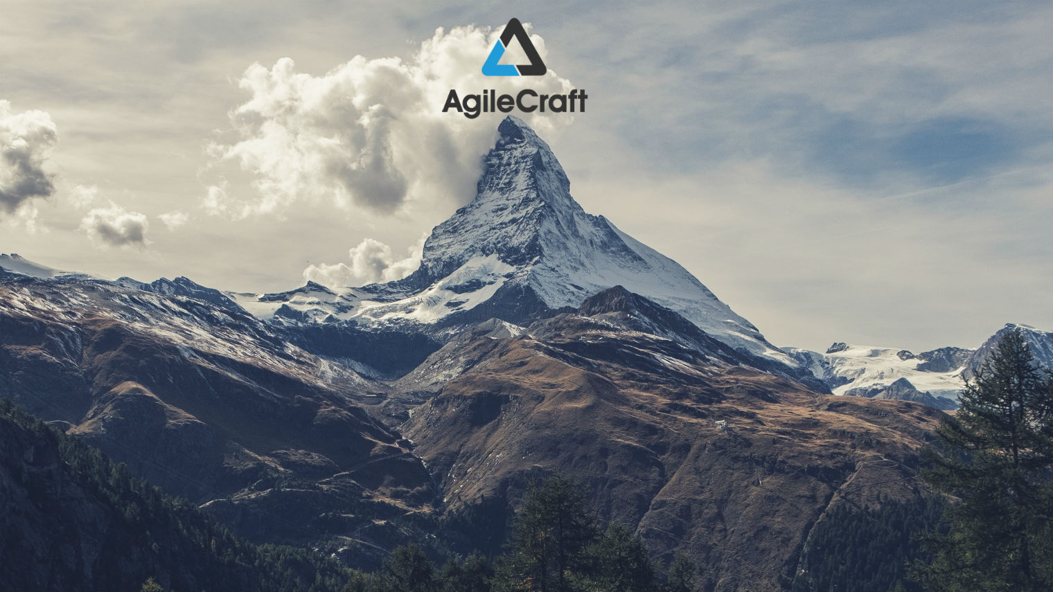AgileCraft on top of a mountain
