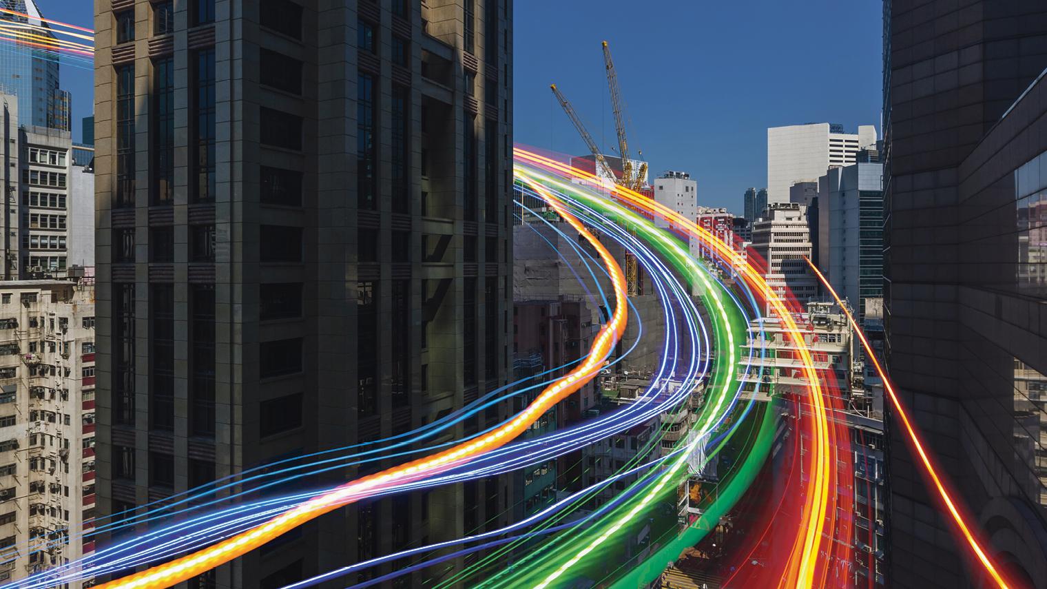 Sped traffic long exposure