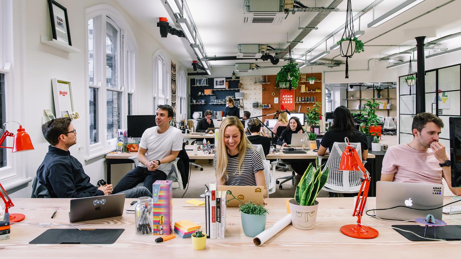 Adaptive Lab open plan office
