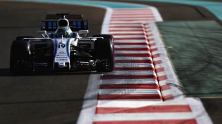Formula 1 car on track