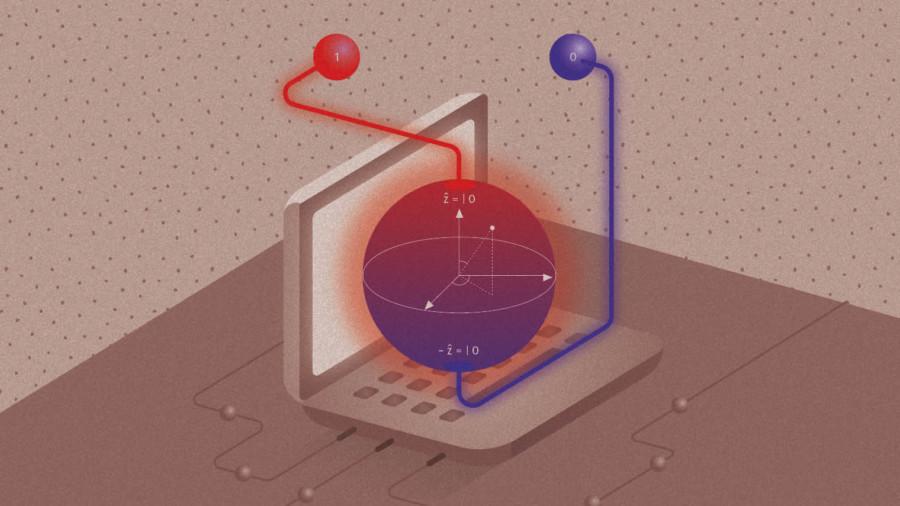Quantum computing illustration