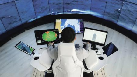 Man operating ship remotely