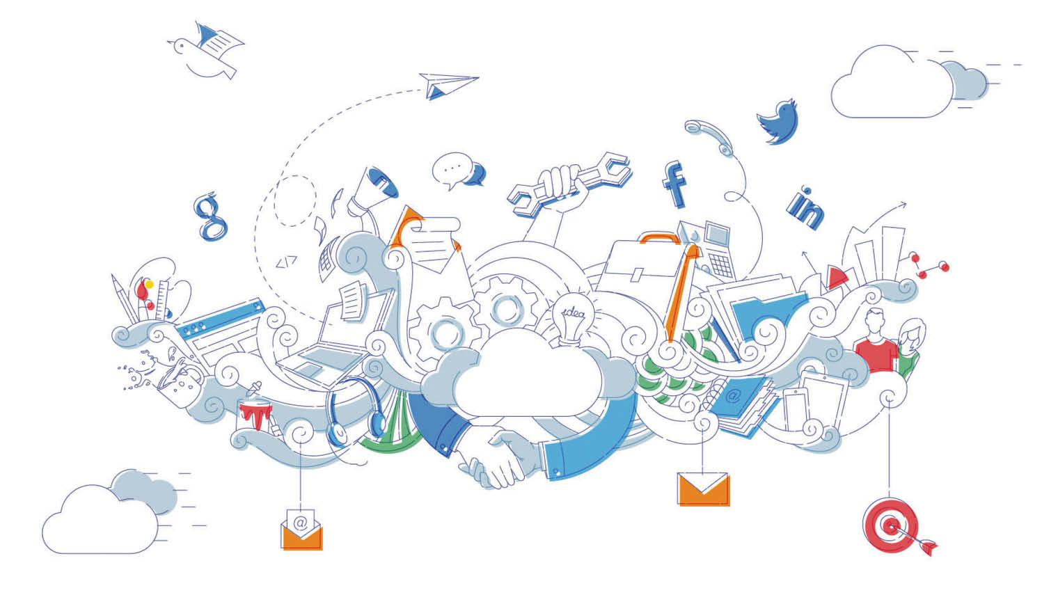 Cloud transformation illustration