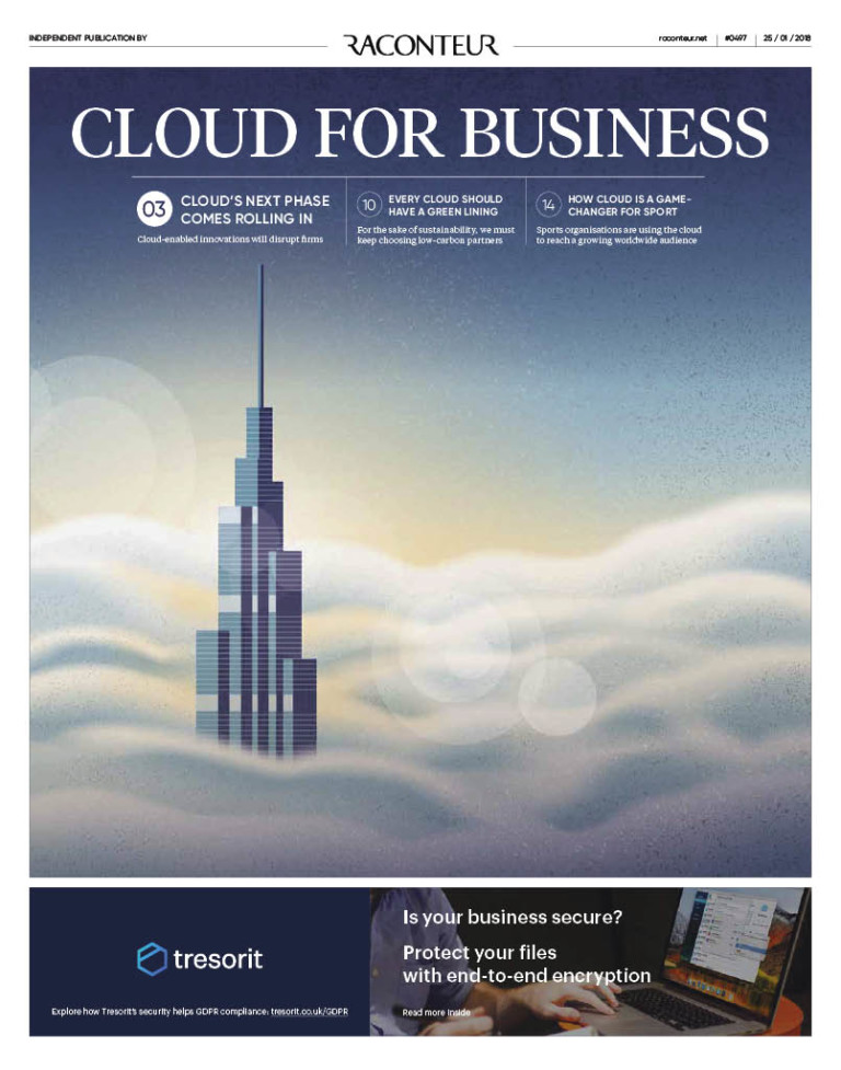 Cloud for Business Special Report cover 2018
