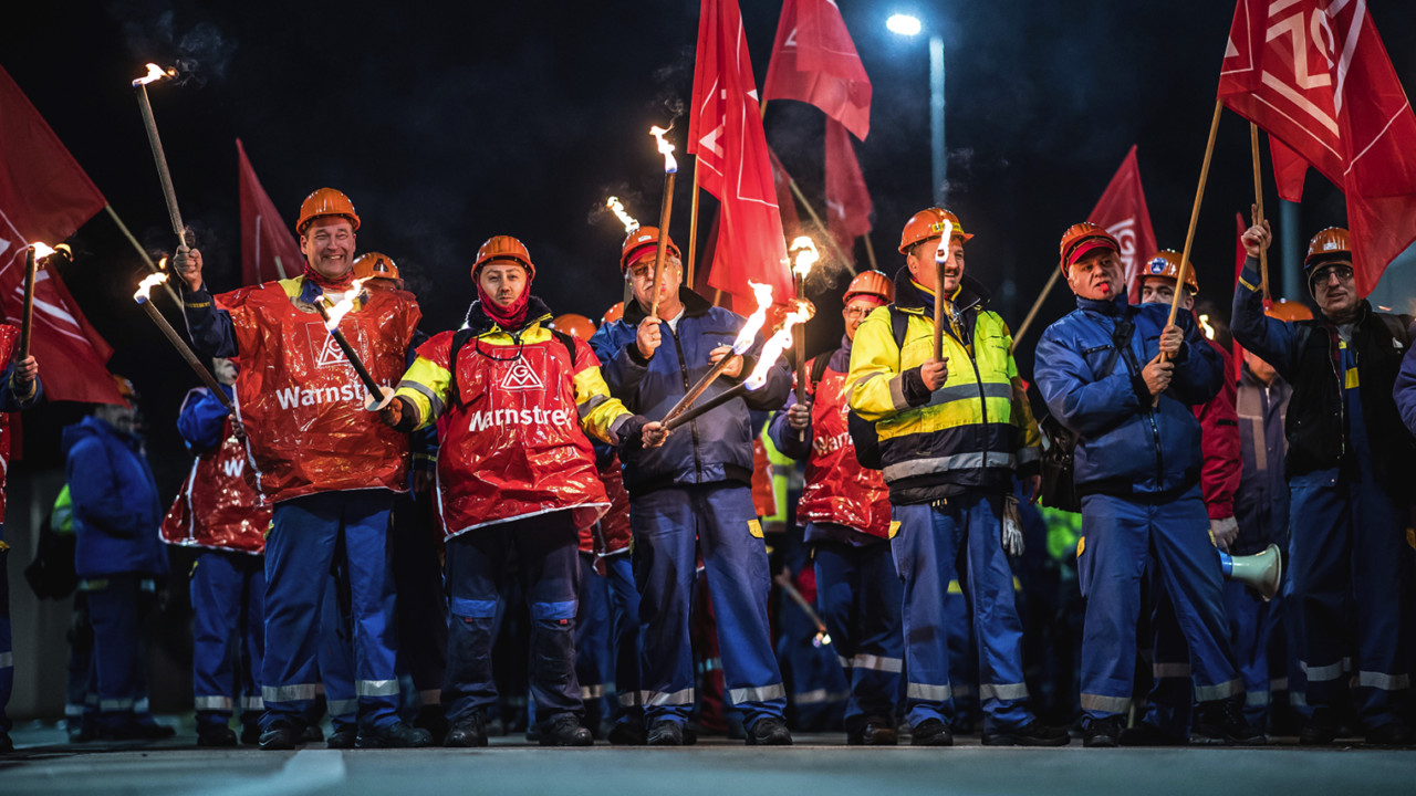 Germany's biggest industrial union launches campaign of 24-hour strikes