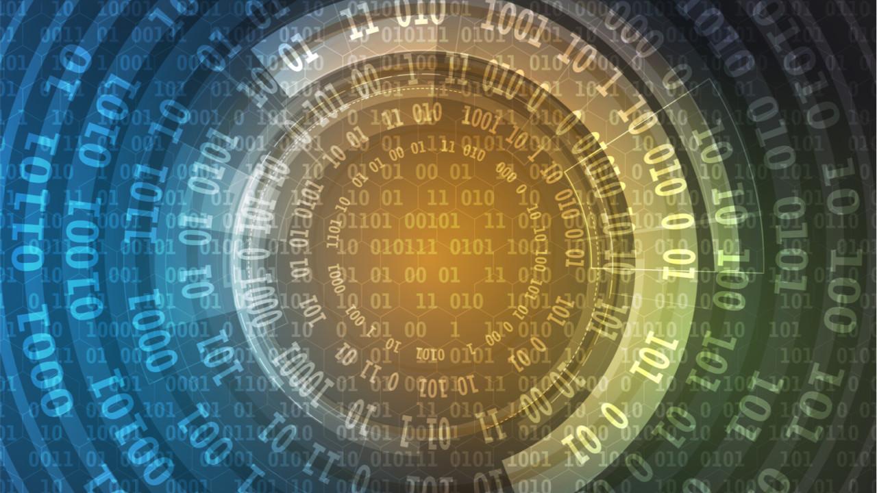 Data encryption concept image