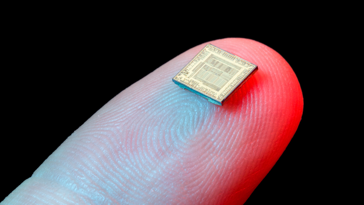 microchip on finger