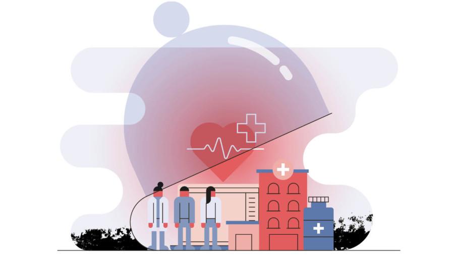 Company healthcare cover illustration