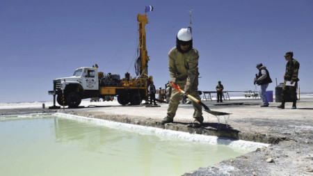 Operations at the Uyuni Salt Flats in Potosi, Bolivia