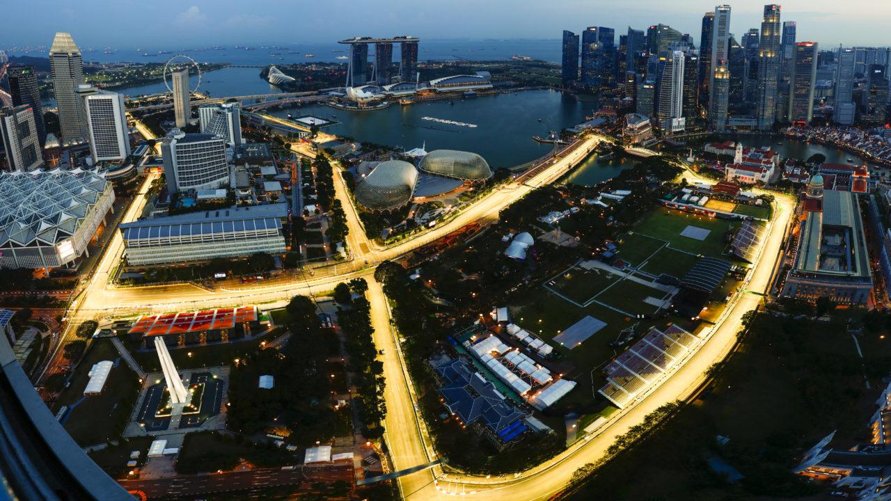 Marina Bay Circuit Marina Bay Singapore Thursday  An Aerial