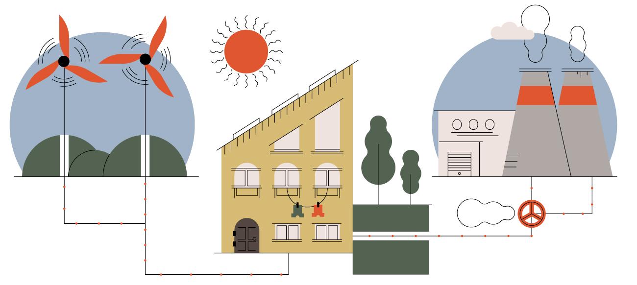 Home energy illustration