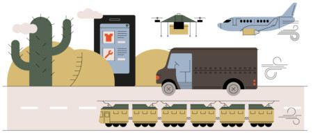 IIoT connected technology illustration