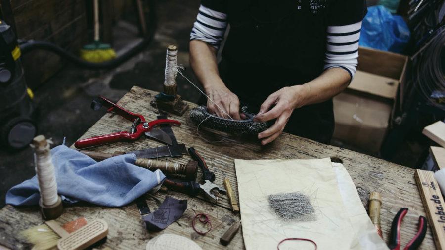Designer making in workshop